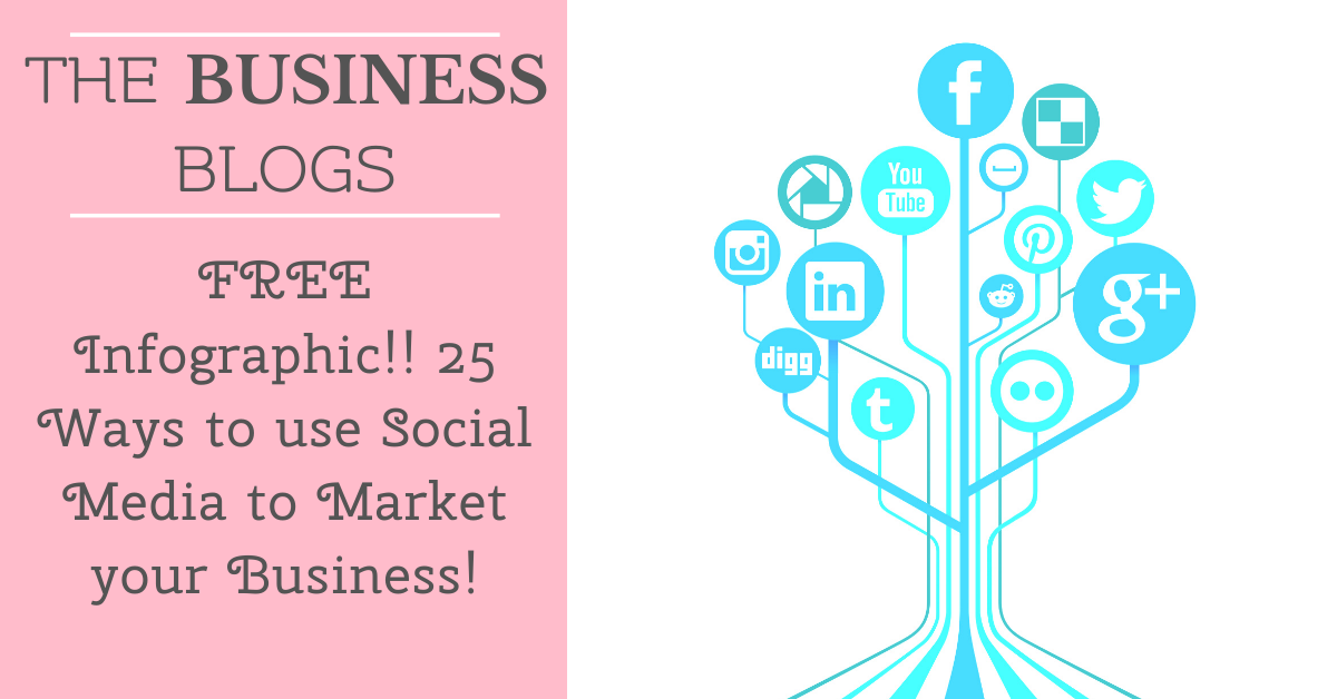 FREE Infographic!! 25 ways to use Social Media to market your business!
